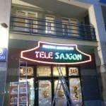 Tele Sajgon - podświetlany szyld