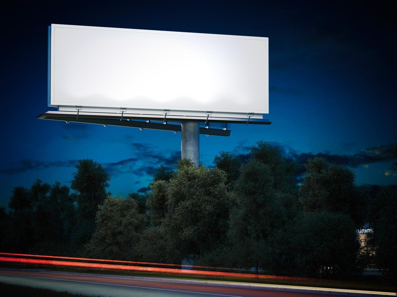 pusty szyld reklamowy
